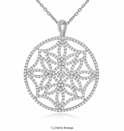 "CZ Snowflake Pendant Necklace in Sterling Silver, Adjustable 16""-18"""