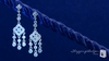 Dangling Sterling Silver CZ Chandelier Earrings