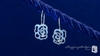Diamond CZ Sterling Silver Open Rose Earrings