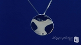 Disk Pendant Necklace in Sterling Silver, 18 inch