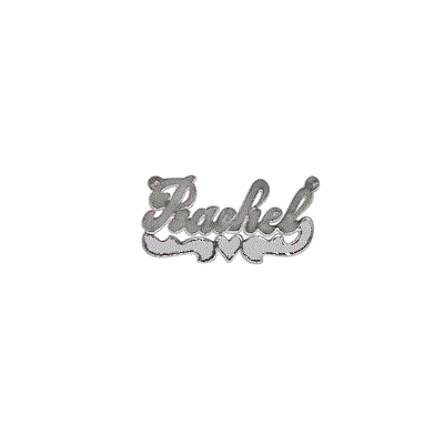 Fancy Script Silver Name Necklace