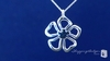 Flower Pendant Necklace in Sterling Silver, 16""