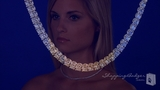 """Four Prong 3mm Round CZ Tennis Necklace in Sterling Silver, 16"""""""