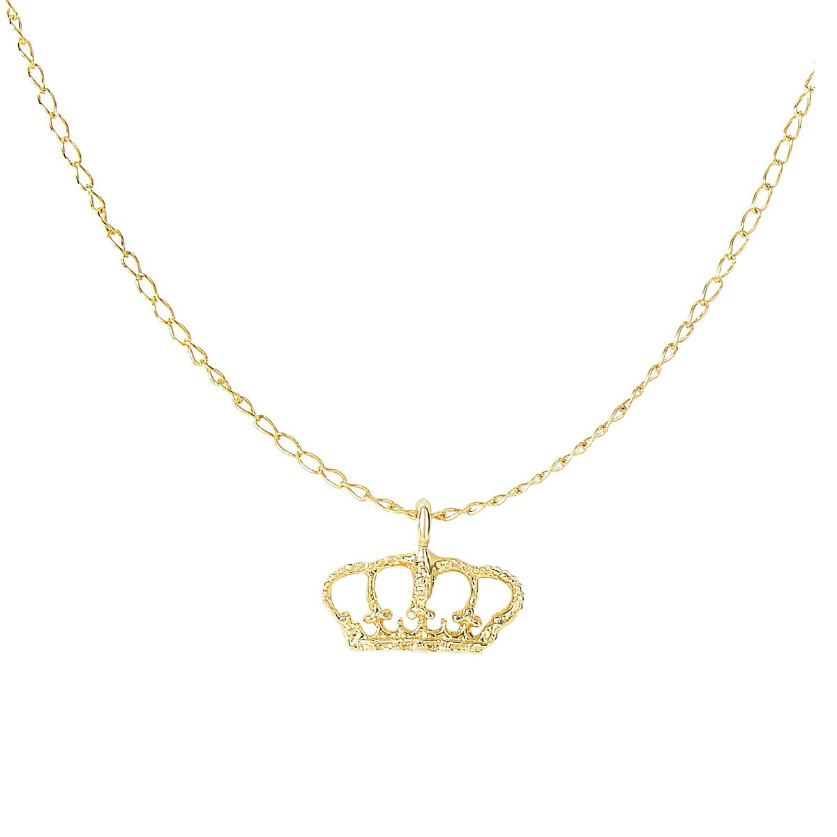 jewelry women original silver sterling c chain for plated necklace gold diadem products crown rose pendant