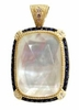 Gold Vermeil, Sapphire, Mother of Pearl and CZ Pendant Necklace