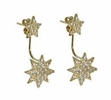 Gold Vermeil Silver Star Earrings