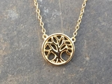 Gold Vermeil Tree of Life Necklace