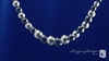 Grey & Silver Graduated Beaded Necklace in Sterling Silver, 18 inch