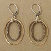 Hammered Sterling Silver and Gold Vermeil Earrings