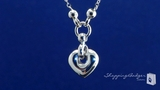 Heart Necklace in 14K White Gold, 17 inch