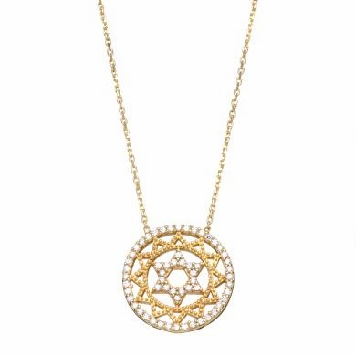 Intricate Star of David Necklace