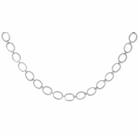 Phillip Gavriel Large Oval Link Silver Necklace, 18 inch