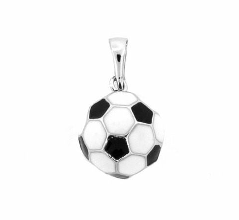 Large Silver Soccer Ball Pendant
