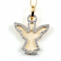 "Open Winged Angel Necklace with CZs in Sterling Silver, Adjustable 16""-18"""