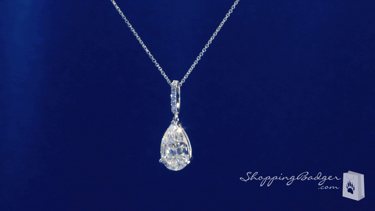 paris shaped ct sale white itm necklace pendant diamond gift hilton solitaire teardrop pear gold