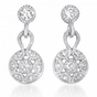Petite Art Deco Drop CZ Sterling Silver Earrings