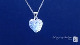 Petite Sterling Silver Pave Cubic Zirconia Heart Locket Pendant Necklace