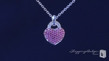 Phillip Gavriel Pink Sapphire & Diamond Heart Sterling Silver Necklace, 18""