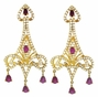 Pink Zirconia Chandelier Earrings