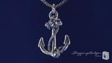 "RockLove Anchor Pendant on Sailor Rope Chain in Sterling Silver, 16"" or 20"""