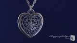"RockLove Filigree Heart on Triple Chain Sterling Silver Necklace, 16""-20"""