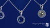 Round Colored Solitaire CZ Pendant Necklace in Sterling Silver