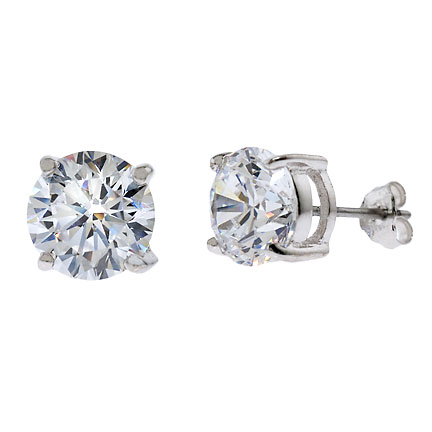 white cz prong rose grande prongs gold zirconia products earrings jewelry plated multi stud quality top diamond fashion