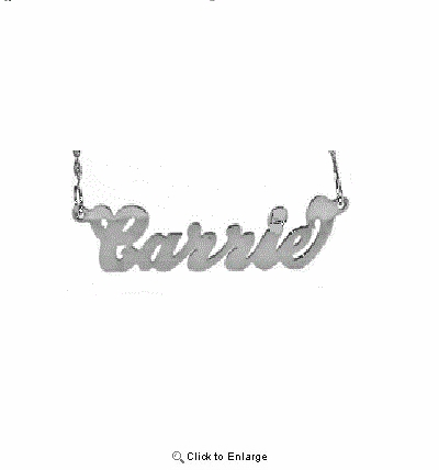 Script Silver Name Necklace