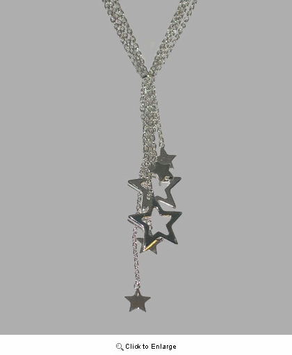 Shooting Stars Silver Necklace