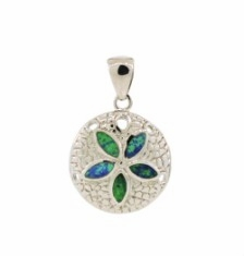 Silver and Turquoise Sand Dollar Necklace