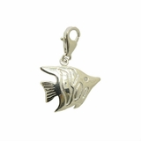 Silver Angel Fish Charm