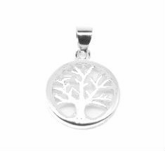 Silver CZ Tree of Life Necklace