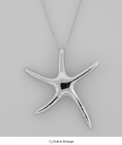Silver Dancing Starfish Necklace