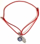 Silver Evil Eye and Hamsa Red String Bracelet