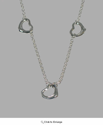 Silver Hearts by the Yard Necklace