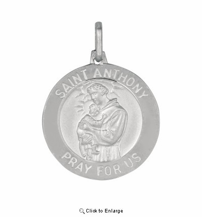 Silver Saint Anthony Pendant