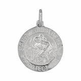 Silver Saint Christopher Pendant