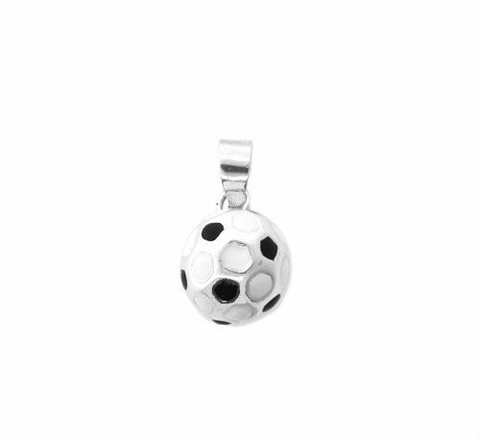 Small Silver Soccer Ball Pendant