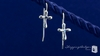 Small Sterling Silver Cross Earrings