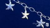 Starfish Bracelet in Sterling Silver & 14K Gold, 7.25""