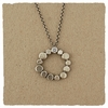 Sterling Dot Circle and CZ Necklace