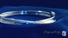 """Sterling Silver 6mm Bangle Bracelet with .02 ct. Diamonds, 7"""""""