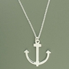 Sterling Silver Anchor Pendant Necklace