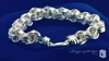 Sterling Silver Chunky Triple Spiral Link Circle Cable Bracelet, 8""