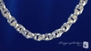 Sterling Silver Chunky Triple Spiral Link Circle Cable Chain Necklace