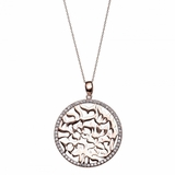 Sterling Silver CZ Shema Necklace