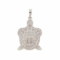 Sterling Silver CZ Turtle Necklace