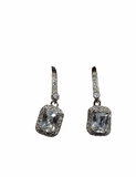 Sterling Silver Elegant Cubic Zirconia Earrings
