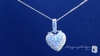 Sterling Silver Pave Cubic Zirconia Heart Pendant Necklace