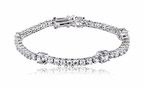Sterling Silver Tennis Bracelet with Large and Small CZs